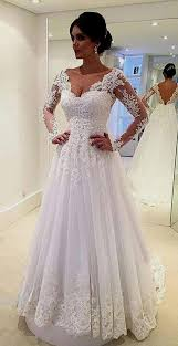 wedding dress with sleeves a line lace wedding dress with sleeves naf dresses