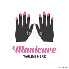 nail salon manicure pedicure logo with text space for your slogan