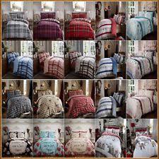Flannelette Single Duvet Cover Double Duvet Set Cotton Ebay