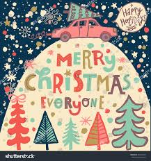 merry everyone concept card bright stock vector