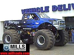 bigfoot monster truck schedule bigfoot visits mills ford of brainerd baxter youtube