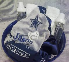 dallas cowboys baby gift set by simplygreenerthings on etsy