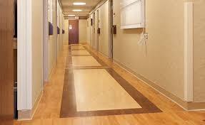 polyurethane flooring for healthcare facilities waxed