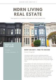 blue and brown real estate newsletter templates by canva