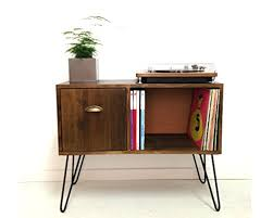 lp record cabinet furniture amazon com vinyl record storage console table record cabinet