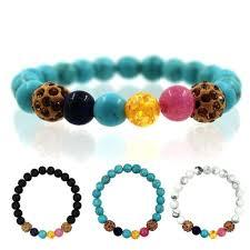 turquoise bead bracelet images Women jewelry natural stone bracelet bangle with white howlite jpg