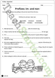 im and non prefixes worksheet teaching resource u2013 teach starter