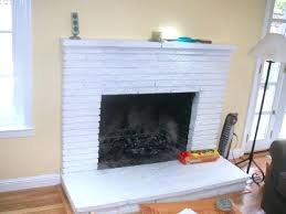 painting red brick fireplace before after freshen dated light