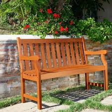 Outside Benches Home Depot by Eucalyptus Outdoor Benches Patio Chairs The Home Depot