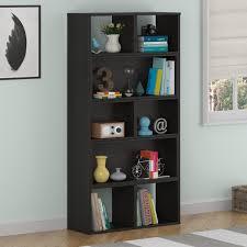 amazon com altra furniture transform sliding bookcase dark