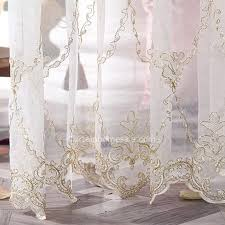 gold and ivory curtains high quality gold embroidered pattern