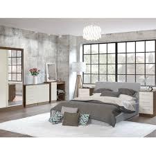 Cream Bedroom Furniture Birlea Lynx Walnut U0026 Cream Bedroom Furniture Big Savings On Birlea