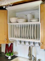 Kitchen Cabinet Plate Rack Storage Update Builder Grade Kitchen Cabinets With A Plate Rack Cabinet