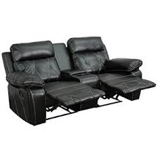 Theater Sofa Recliner Flash Furniture Reel Comfort Series 2 Seat Reclining Leather