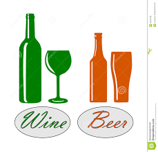 wine silhouette wine and beer royalty free stock image image 34318736