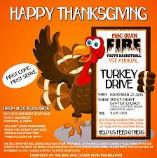 thanksgiving food drive items 1st annual turkey drive
