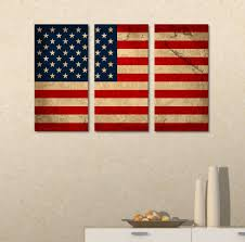 Hanging American Flag Vertically Amazon Com Wall26 Canvas Prints Wall Art 3 Panel Vintage