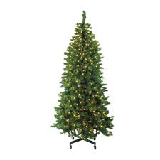 7 5 pre lit led slim olympia pine artificial tree