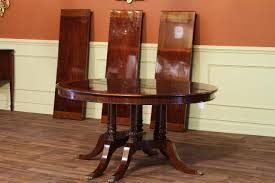 Mahogany Dining Room Furniture Round To Oval Round Mahogany Dining Table With Leaves