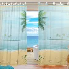 gorgeous beach window curtains 140 beach scene window curtains