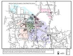 Map Alabama Council Districts Map City Of Decatur Alabama