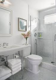 Grey Mosaic Bathroom Tile Shower Curb Bathroom Beach Style With Chrome Hardware Curtains
