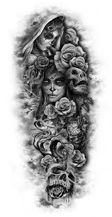 sugar skull half sleeve designs archives amazing