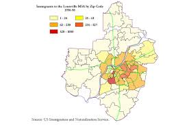 Raleigh Zip Code Map by This Map Reveals The Hidden Geography Of Immigration In Louisville