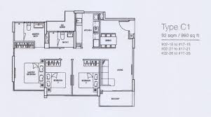residence floor plan 3 bedroom riverparc residence ec