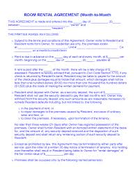 Agreement Templates Free Word S Month To Month Rental Agreement Form 86 Free Templates In Pdf