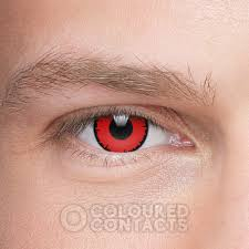 angelic 90 day red prescription contact lenses halloween contacts