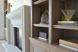 Living Room Shelving Units by Freestanding Gray Wash Shelving Units Transitional Living Room