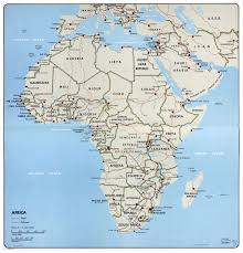 Maps Of Africa Large Political Map Of Africa U2013 1968 Africa Large Political Map