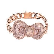 hello bow pink bow hello bracelet