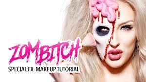 special fx makeup zombitch special fx makeup tutorial
