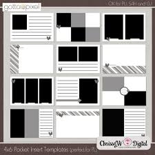 4x6 photo album inserts 4x6 pocket insert or mini album templates gotta pixel digital