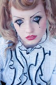 Porcelain Doll Costume Halloween Gothic Clown Makeup Young Red Head Female Clown