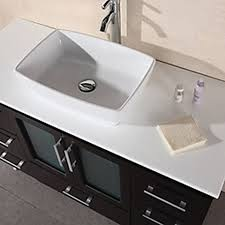 design element stanton single vessel sink vanity set with espresso
