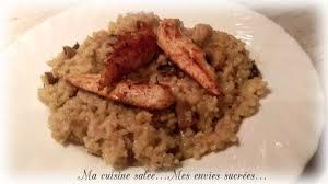 la cuisine de mes envies risotto aux chignons aiguillettes de poulet ma cuisine salée