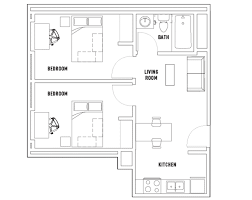 floor plan bedroom centennial place student residence floorplans