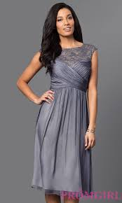 silver grey dresses wedding knee length graphite silver dress promgirl