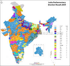Map Election by India General Lok Sabha Election 2014 Results
