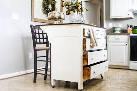 kitchen island storage need more kitchen storage turn a dresser into an island hometalk