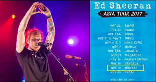 ed sheeran tour 2017 after justin bieber ed sheeran is coming to india in november for a