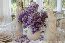 Easter Decorations Table Setting by Easter Tablescapes Table Settings With Wisteria And Bunny