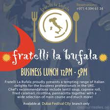 lexus dubai ramadan offers business lunch offer fratelli la bufala discountsales ae
