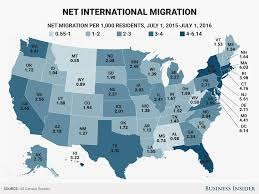 Migration Map State Net International Migration Map Business Insider