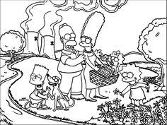 simpson coloring pages homer simpson relaxed simpsons coloring pages pinterest