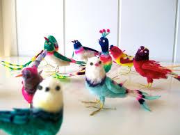 vintage bird ornaments 10 vintage chenille bird