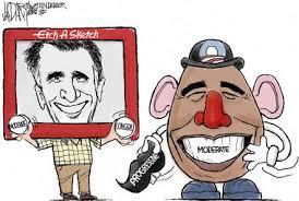mr etch a sketch vs mr potato head editorial cartoon